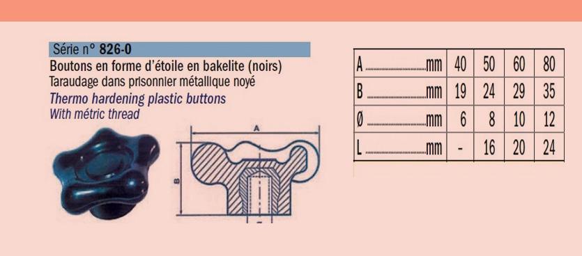 Bouton- en- forme- d-'étoile- en -bakélite