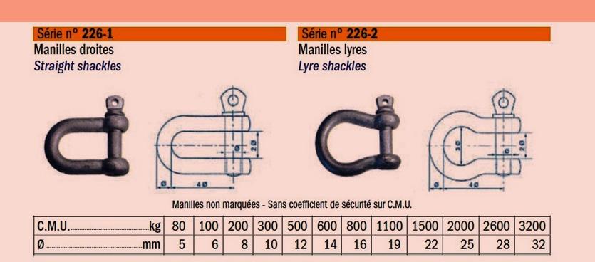 Manilles-serie-legere- galvanisées