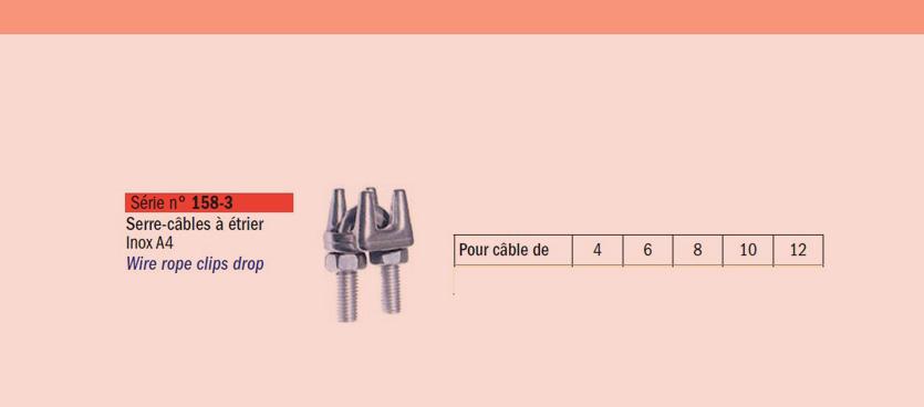 Serre- cables- à- etrier- inox